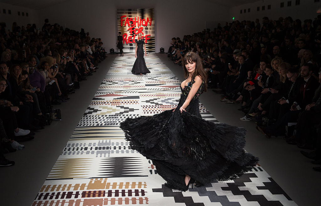 Annabelle Neilson walks the runway at the Fashion For Relief charity fashion show