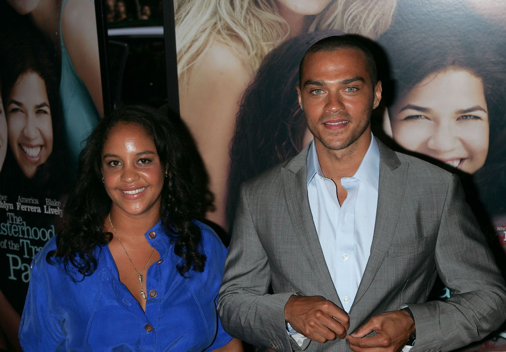 """Actor Jesse Williams (R) and Aryn Drake-Lee attend the premiere of """"The Sisterhood of the Traveling Pants 2"""""""