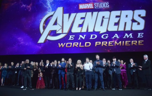 The cast and crew of 'Avengers: Endgame' at the premiere