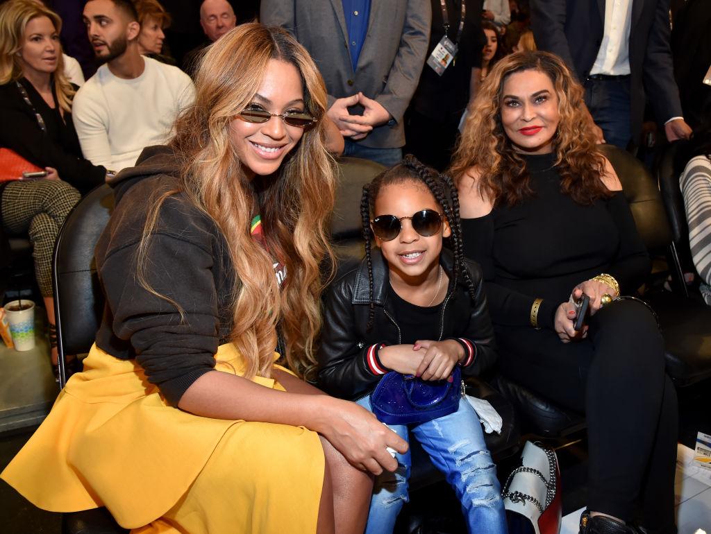 Beyoncé, Blue Ivy Carter, and Tina Knowles