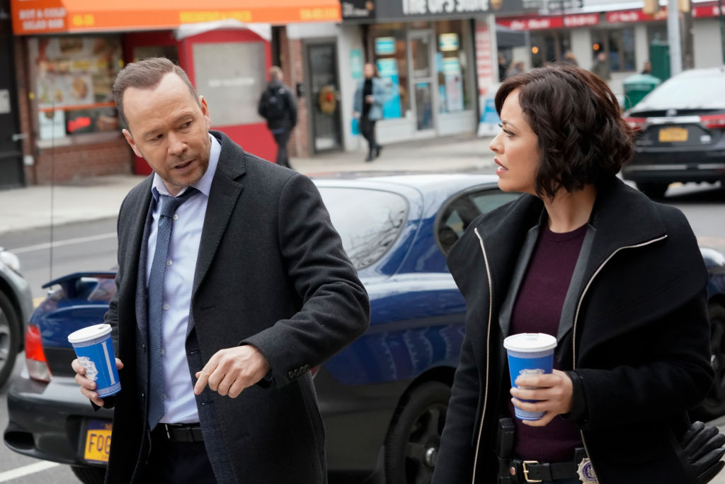 Donnie Wahlberg as Danny Reagan, Marisa Ramirez as Det. Maria Baez on 'Blue Bloods'