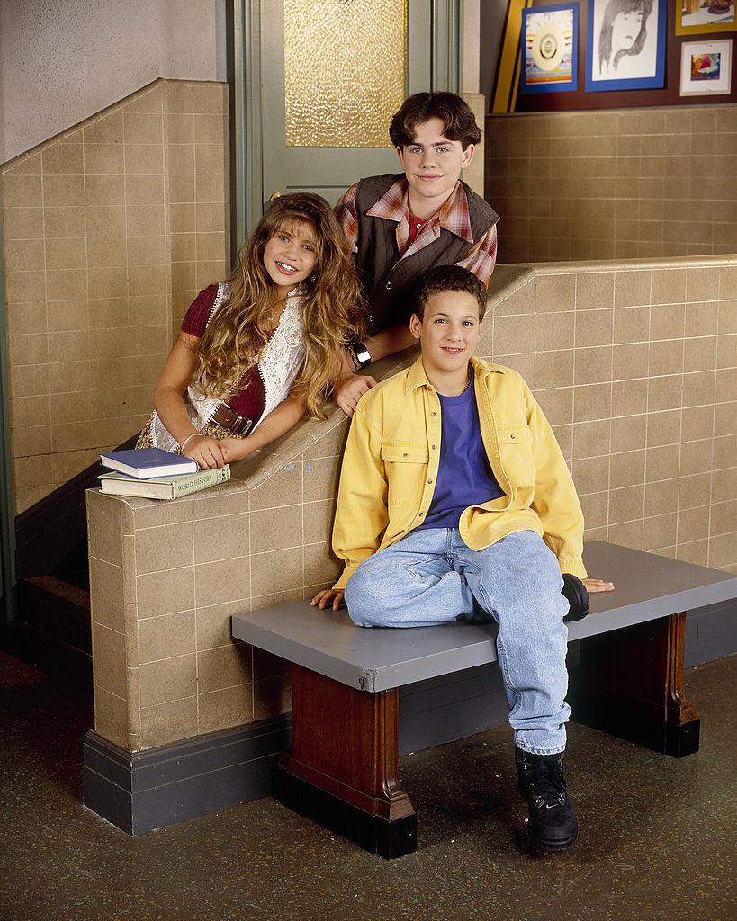 Danielle Fishel as Topanga Lawrence, Rider Strong as Shawn Hunter sand Ben Savage as Corey Matthews