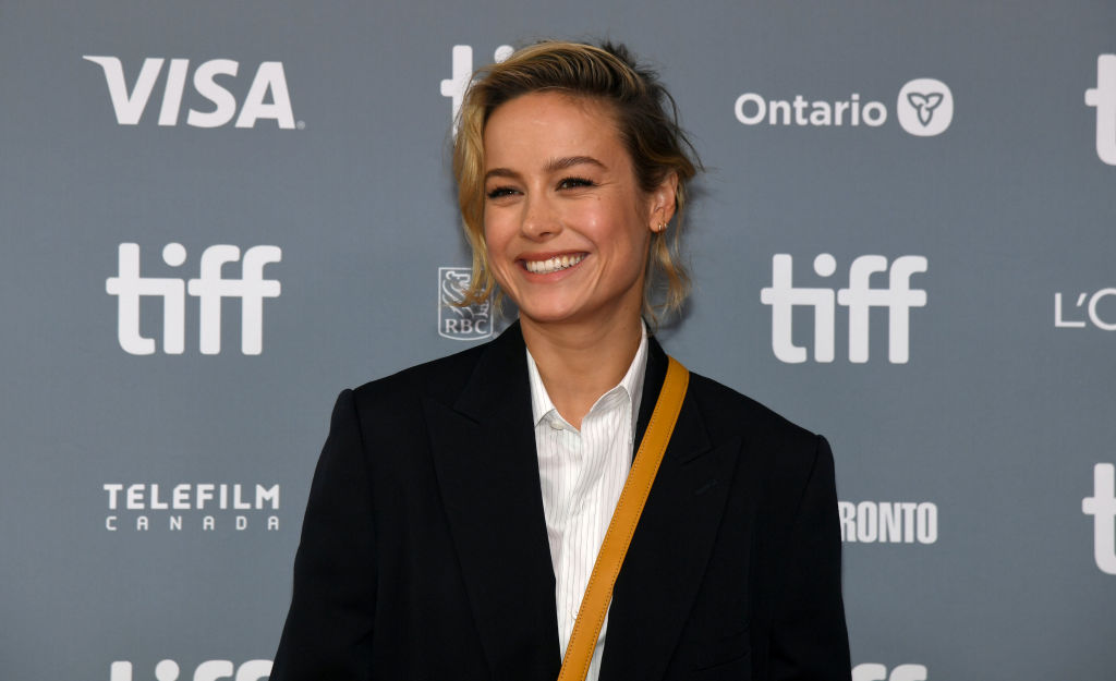 """Brie Larson attends the """"Just Mercy"""" press conference during the 2019 Toronto International Film Festival at TIFF Bell Lightbox on September 07, 2019 in Toronto, Canada."""