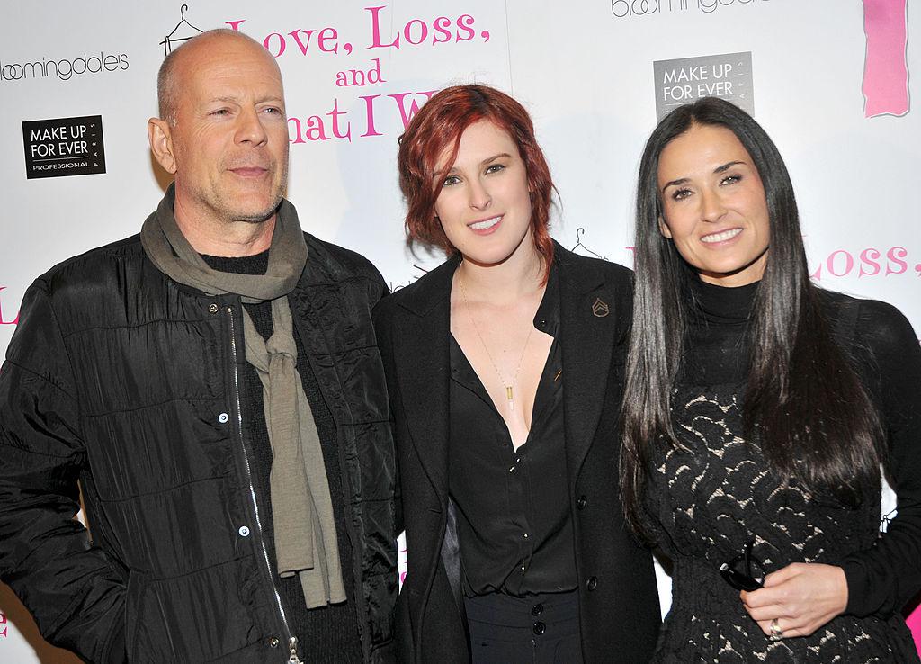Bruce Willis, daughter Rumer Willis and Demi Moore