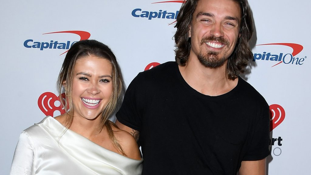 Caelynn Miller-Keyes and Dean Unglert from 'Bachelor in Paradise' Season 6 arrives at the KIIS FM's Jingle Ball 2019 Presented By Capital One At The Forum at The Forum on December 06, 2019