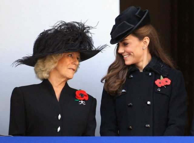 Camilla Parker Bowles and Kate Middleton attend Remembrance Day Ceremony, 2011