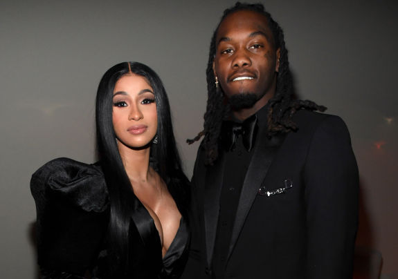 Cardi B and Offset at a party in December 2019 in Los Angeles, California
