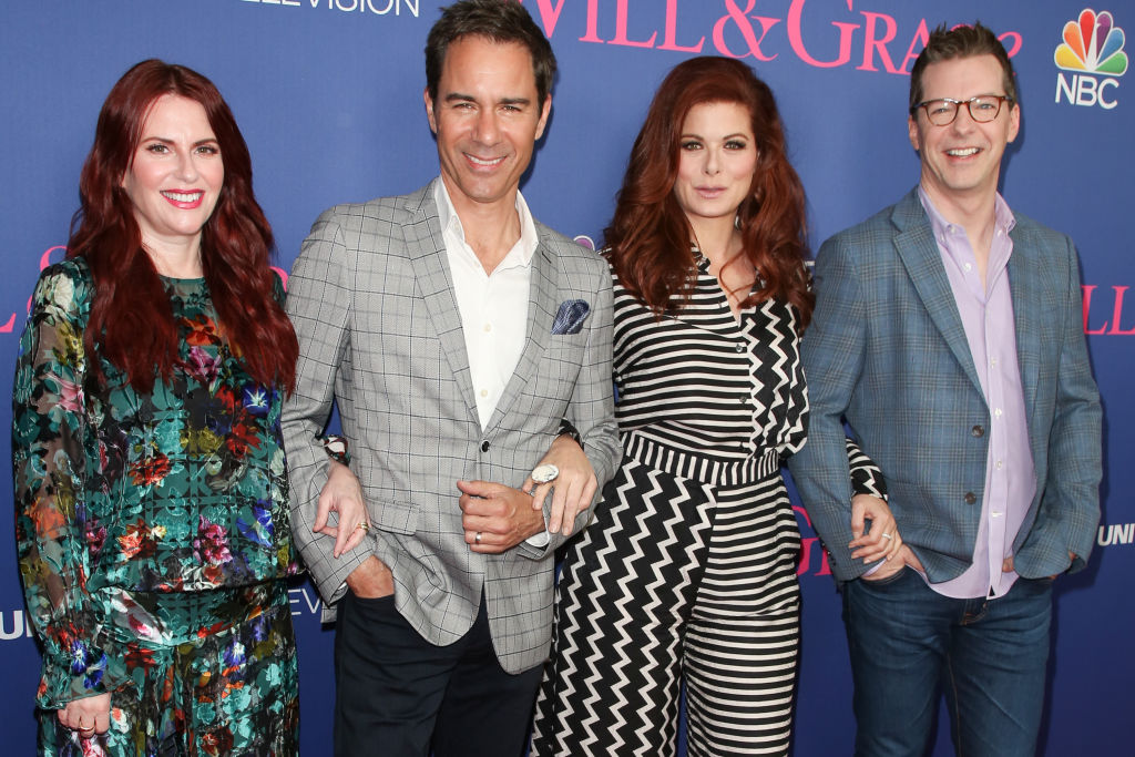 Cast of 'Will & Grace:' (L-R) Actors Megan Mullally, Eric McCormack, Debra Messing and Sean Hayes
