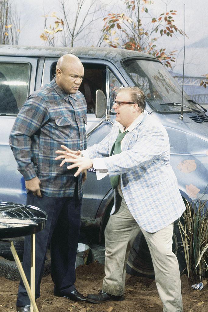Chris Farley and George Foreman