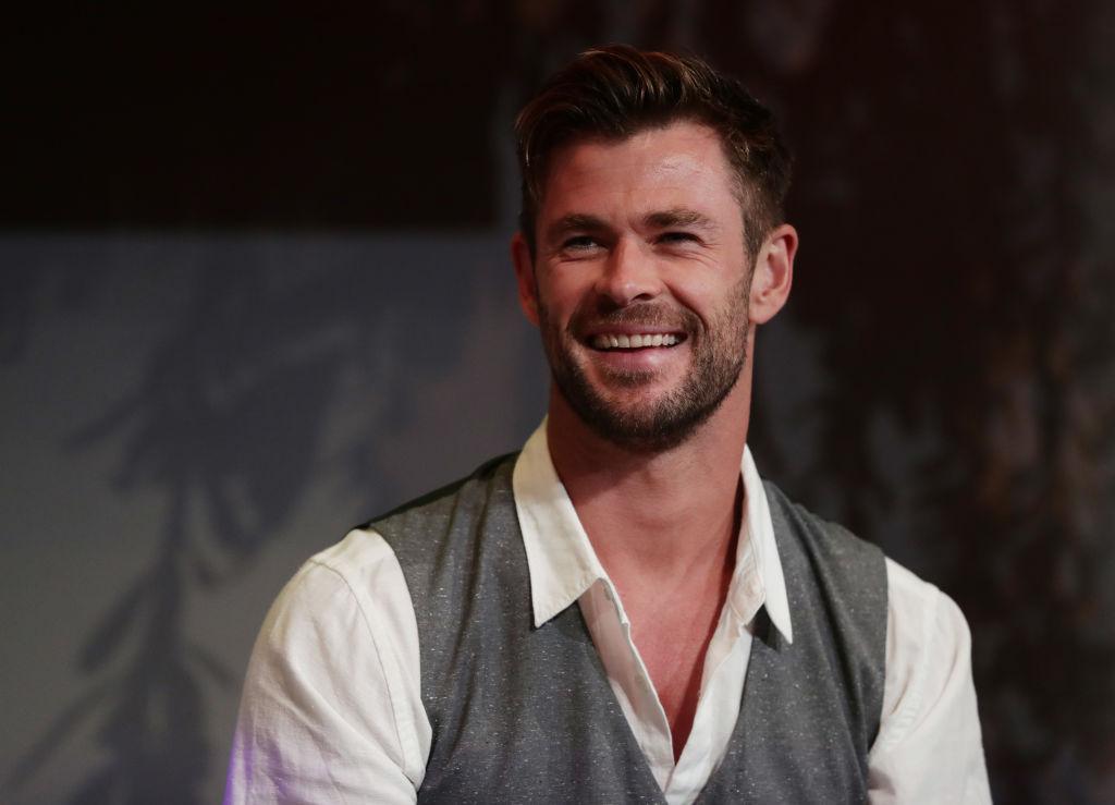 Chris Hemsworth smiling