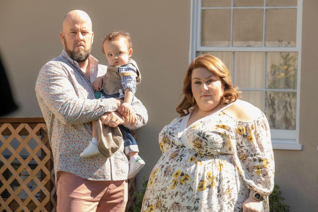 Chris Sullivan as Toby, Baby Jack, Chrissy Metz as Kate on 'This Is Us' Season 4