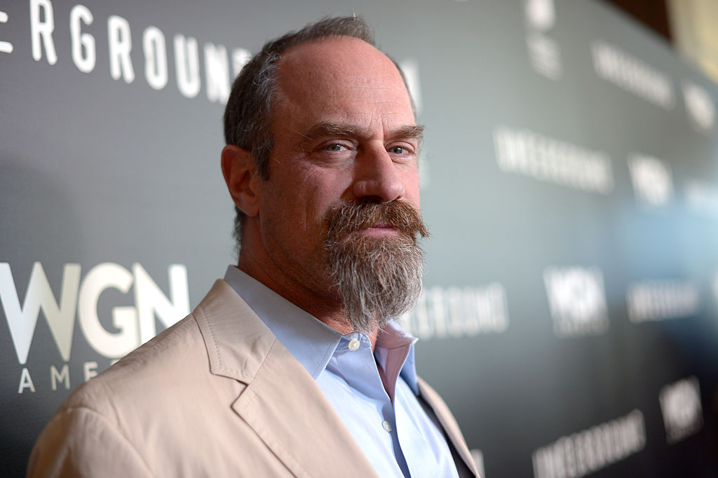 Christopher Meloni smiling at the camera