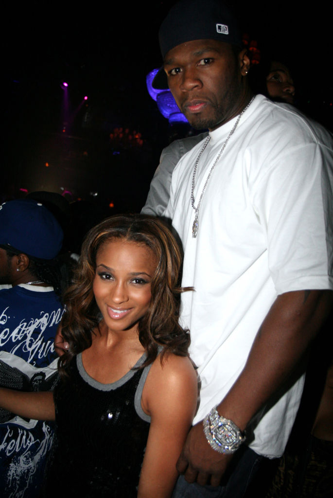 Ciara and 50 Cent at a party in September 2007