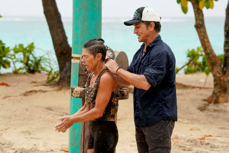 Denise Stapley and Jeff Probst