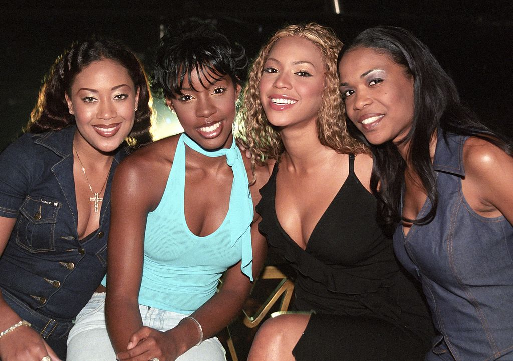 Farrah Franklin, Kelly Rowland, Beyonce Knowles and Michelle Williams of Destiny's Child at an event in July 2000