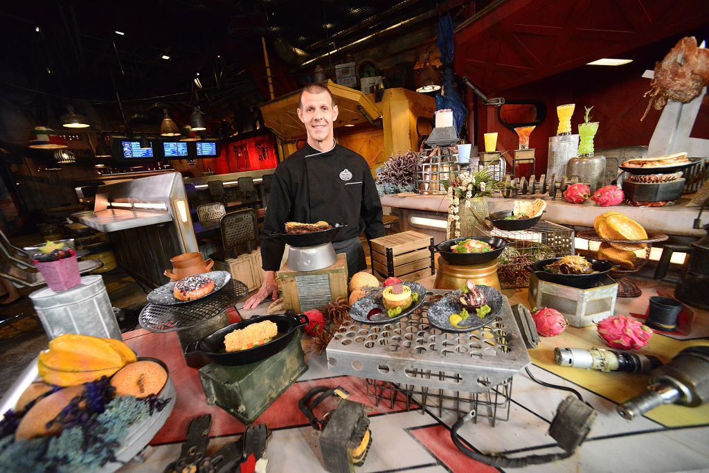 A Batuuan chef poses at the Docking Bay 7 quick service restaurant