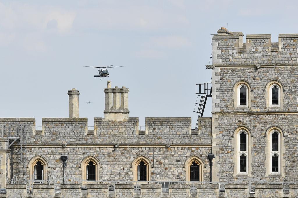 Donald Trump visits Windsor Castle