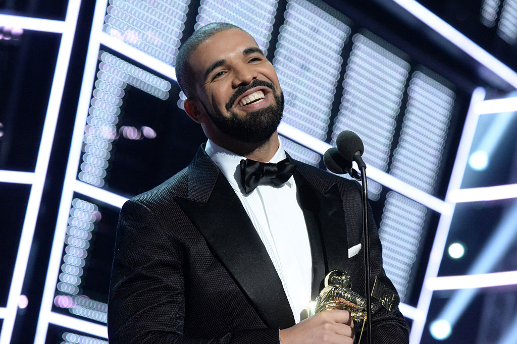 Drake onstage at an award show in August 2016