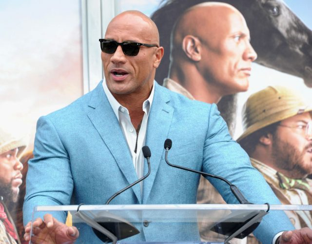 Dwayne Johnson at the TCL Chinese Theatre