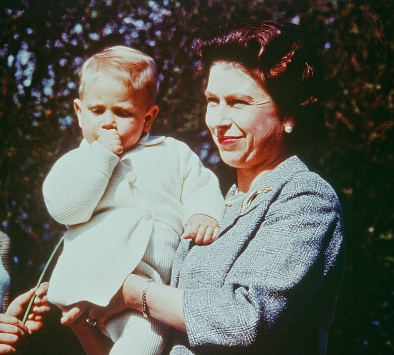 Queen Elizabeth with Prince Edward