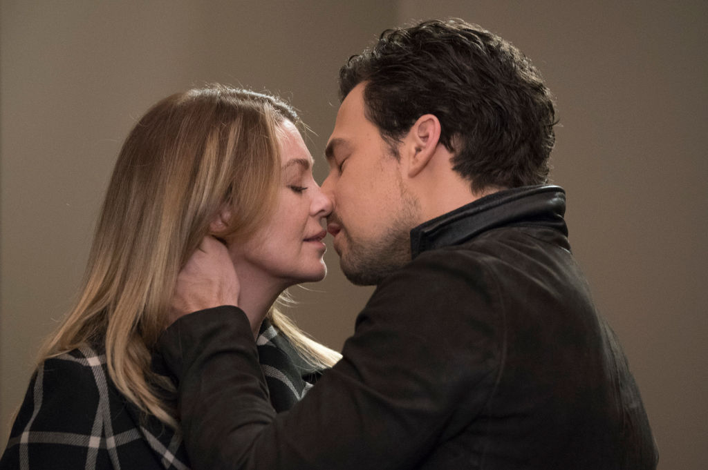 Ellen Pompeo as Meredith Grey and Giacomo Gianniotti as Andrew DeLuca on 'Grey's Anatomy' - Season Fifteen