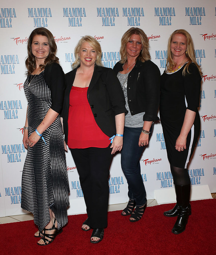 Robyn, Janelle, Meri, and Christine Brown on the red carpet