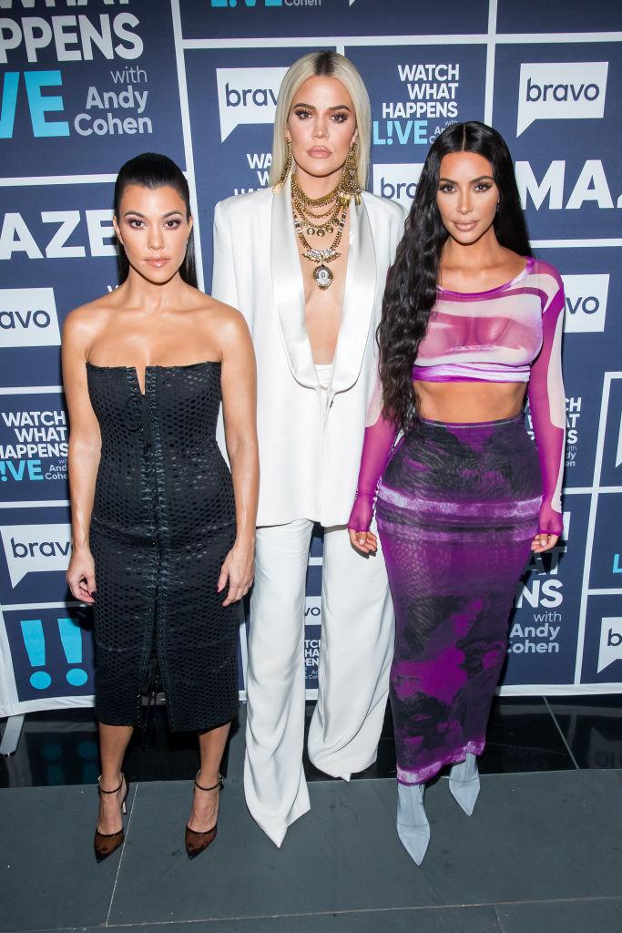 Kourtney Kardashian, Khloe Kardashian, and Kim Kardashian West