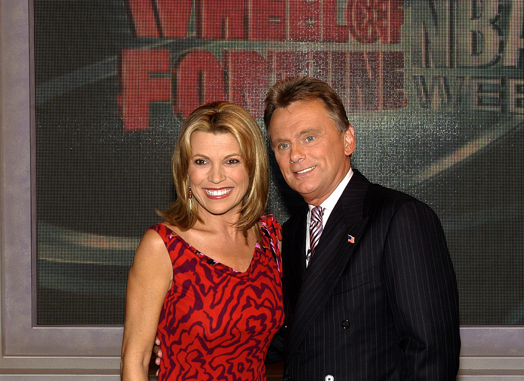 Vanna White (left) and Pat Sajak of 'Wheel of Fortune'