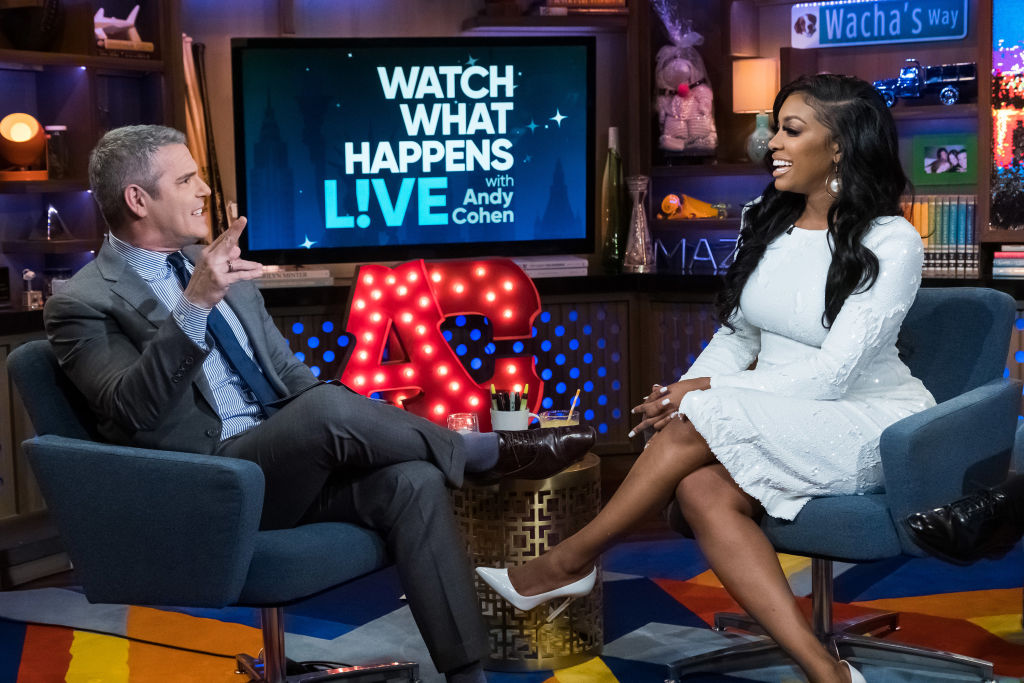 Andy Cohen and Porsha Williams