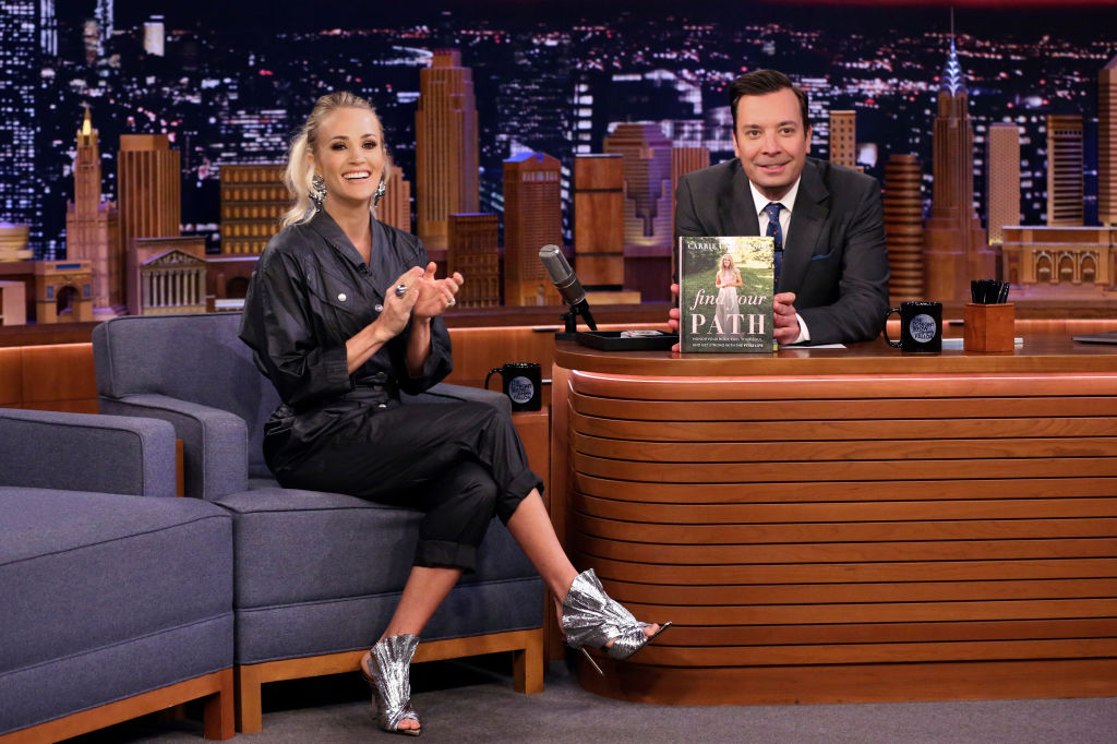 Carrie Underwood promoting her book, 'Find Your Path,' on 'The Tonight Show Starring Jimmy Fallon'