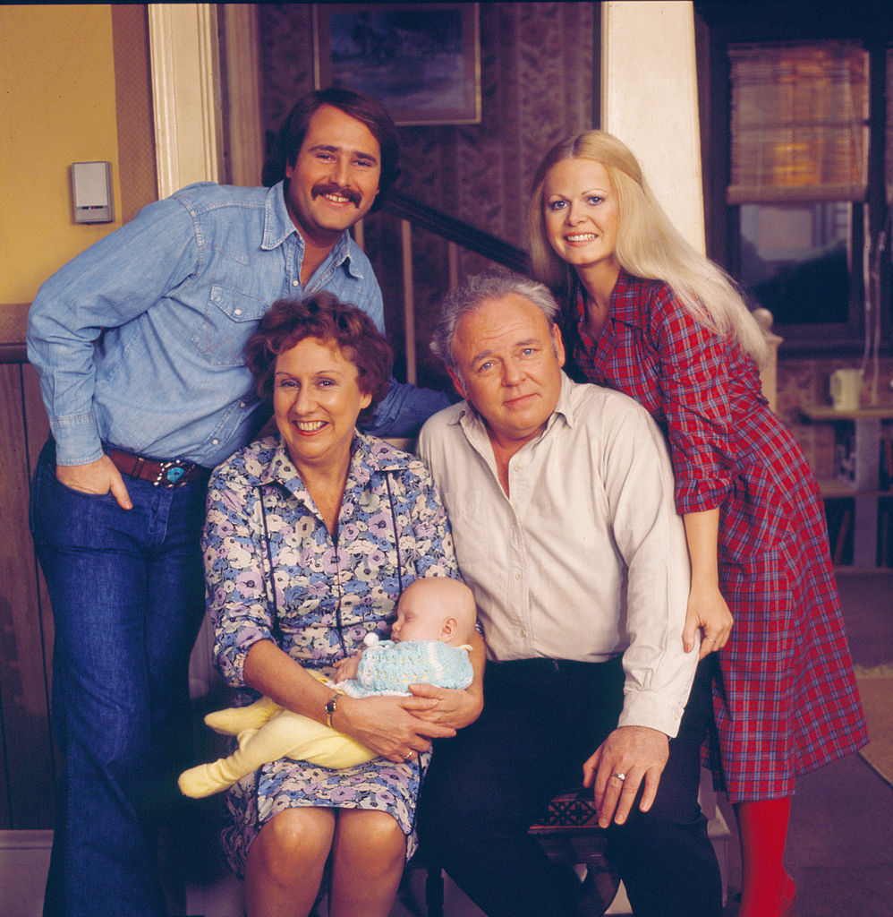 Sally Struthers (top right) as Gloria Stivic in 'All in the Family'
