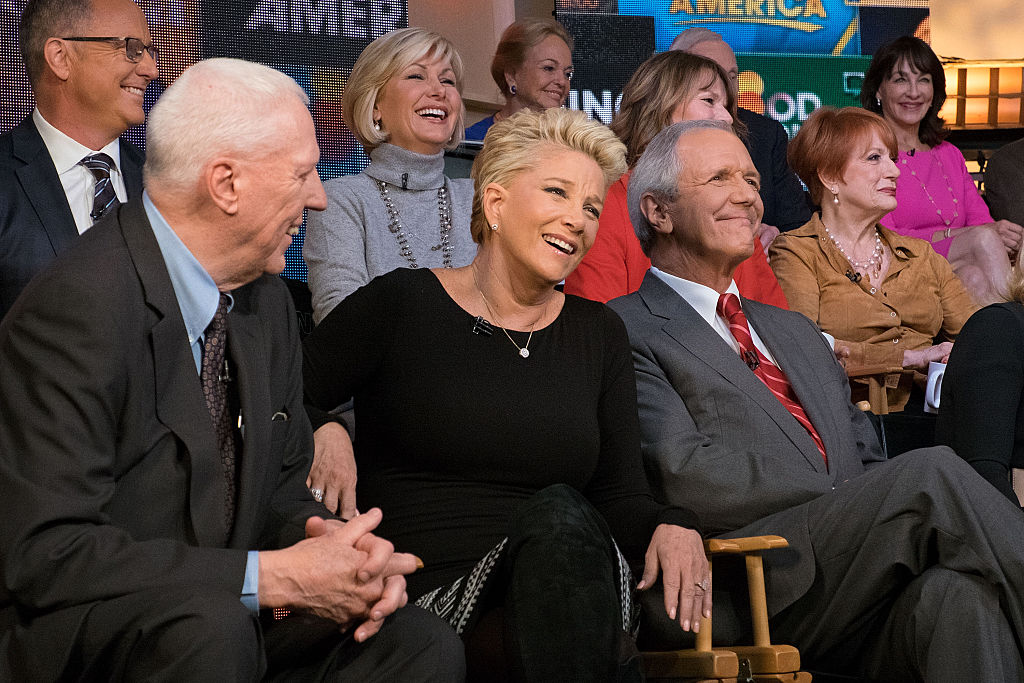 Joan Lunden and Charlie Gibson celebrating 'Good Morning America' 40th anniversary, 2015