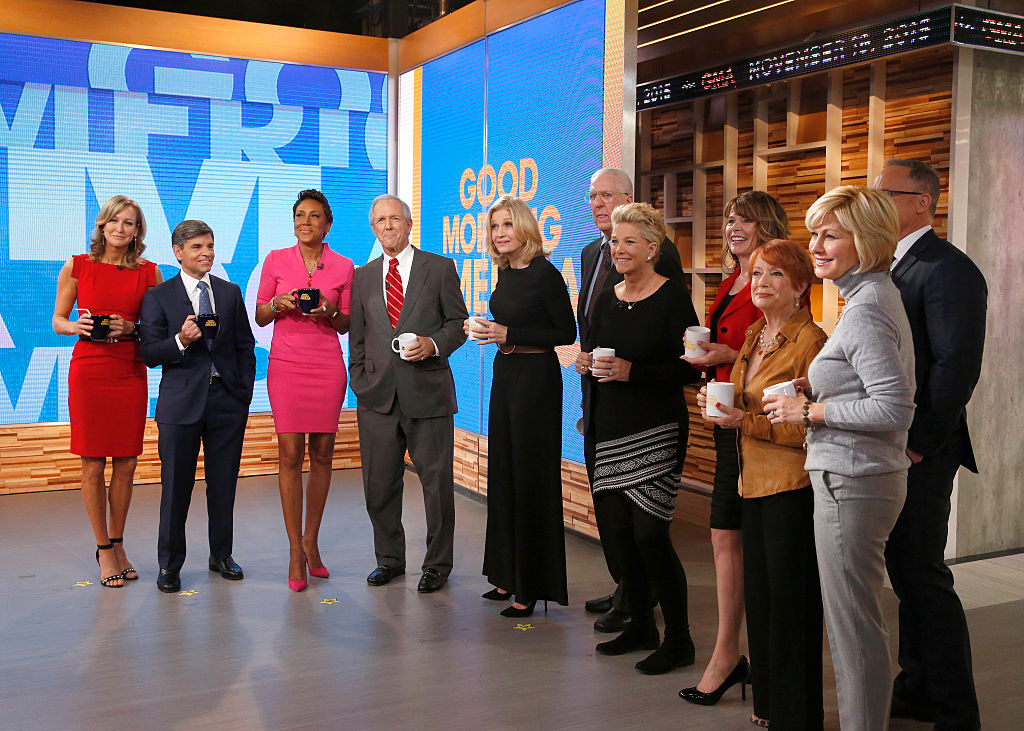 (far right) McRee and Stelter attending the 40th anniversary celebration for 'Good Morning America'