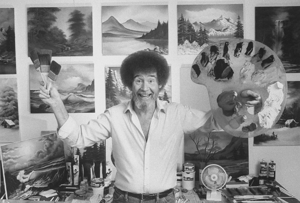 TV painting instructor and artist Bob Ross