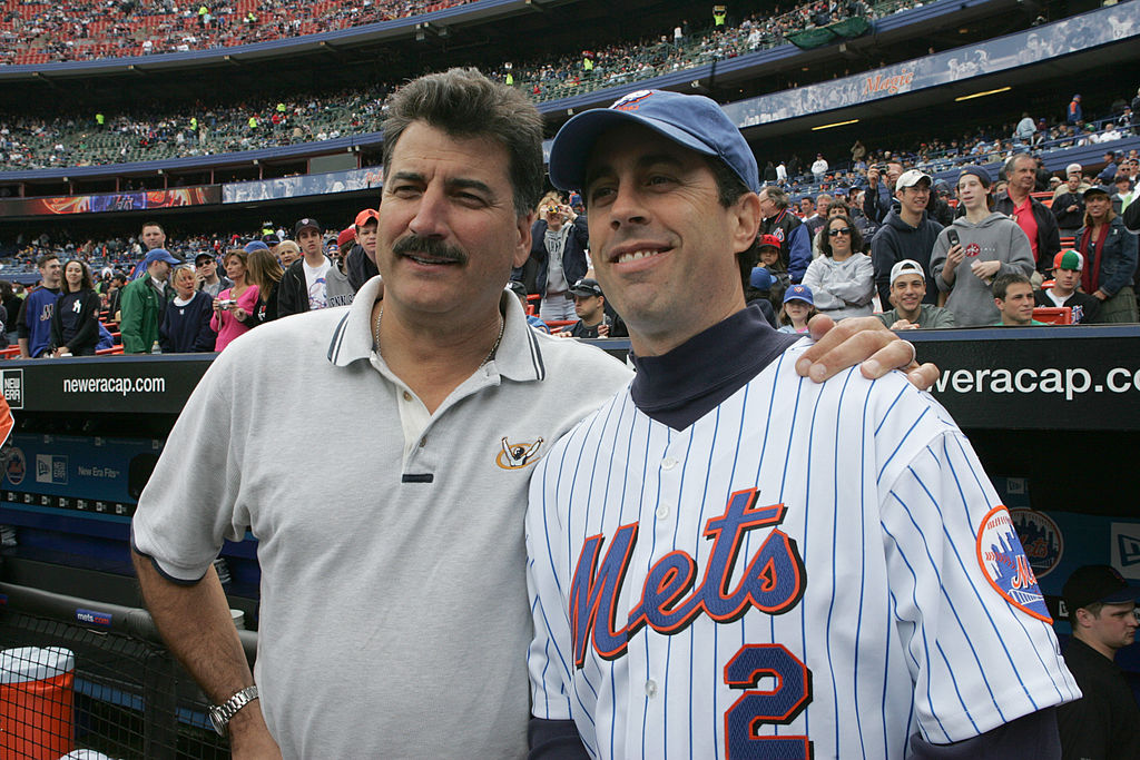 Former New York Met Keith Hernandez (left) and Jerry Seinfeld