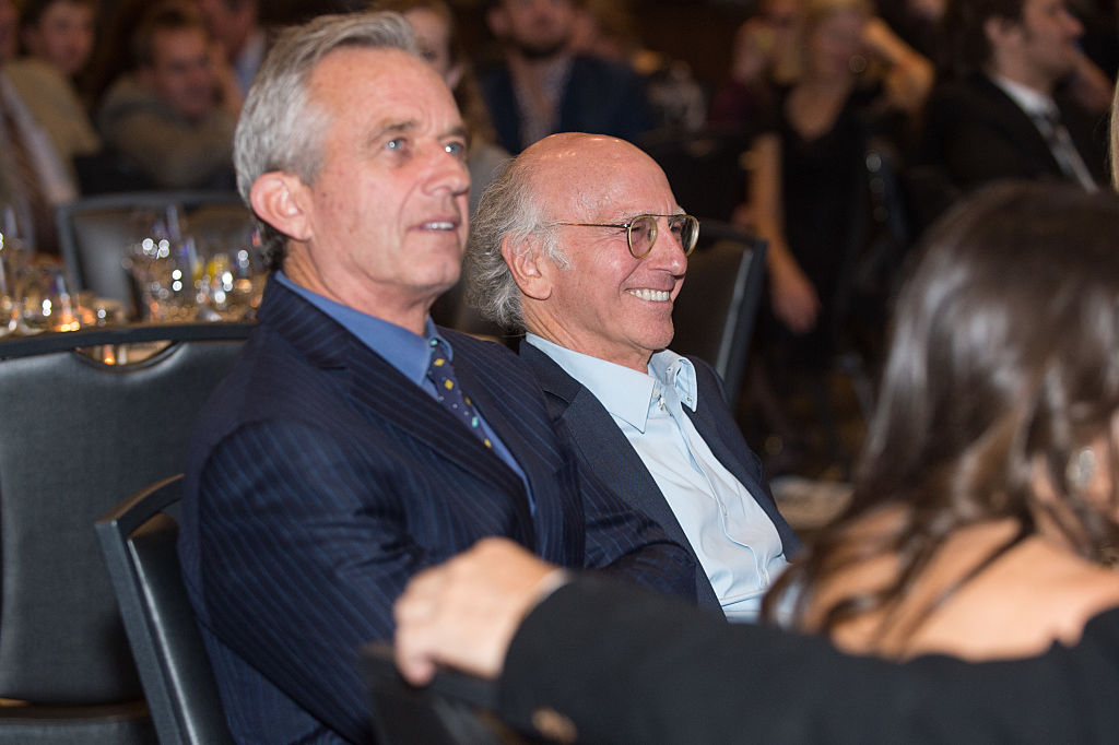 Robert Kennedy Jr (left) and Larry David