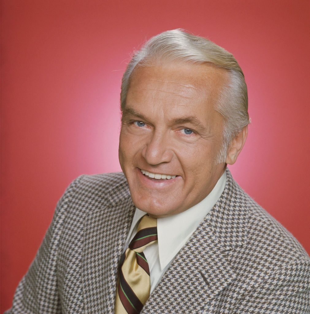 Ted Knight posing as Ted Baxter in 'The Mary Tyler Moore Show', 1974