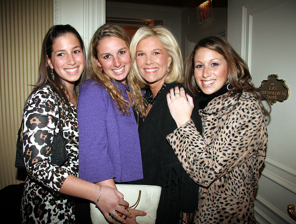 Joan Lunden and her three daughters from her first marriage: Sarah, Lindsay, and Jamie