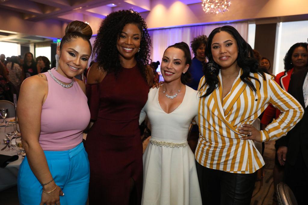 Mia Wright, Gabrielle Union, Adrienne Williams Bosh, and Ayesha Curry