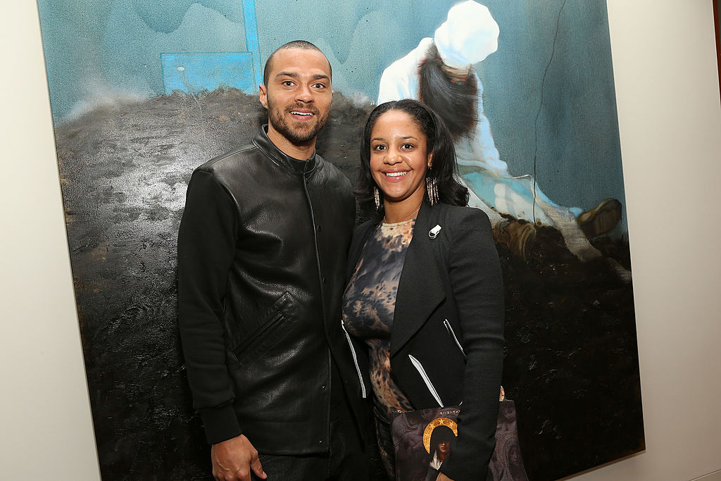 Jesse Williams and Aryn Drake-Lee attend the Art Los Angeles Contemporary Reception
