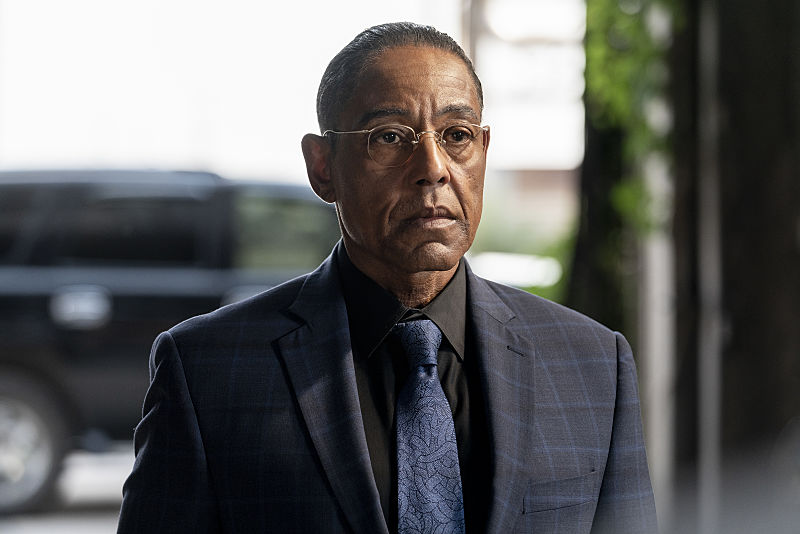 Gus Fring on the set of 'Breaking Bad'