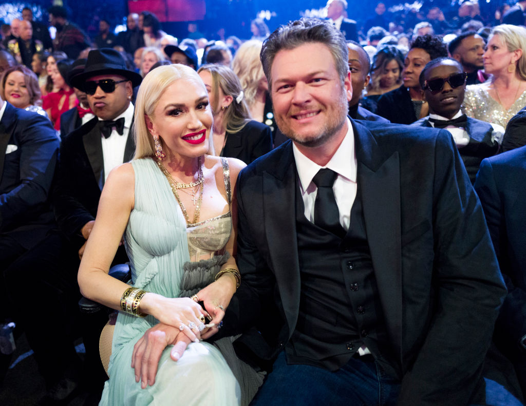 Gwen Stefani and Blake Shelton attend the 62nd Annual GRAMMY Awards