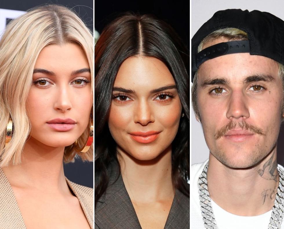 Hailey Bieber, Kendall Jenner, and Justin Bieber