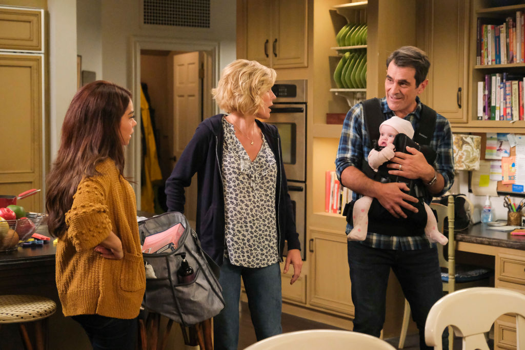 'Modern Family' characters Haley, Claire, and Phil Dunphy