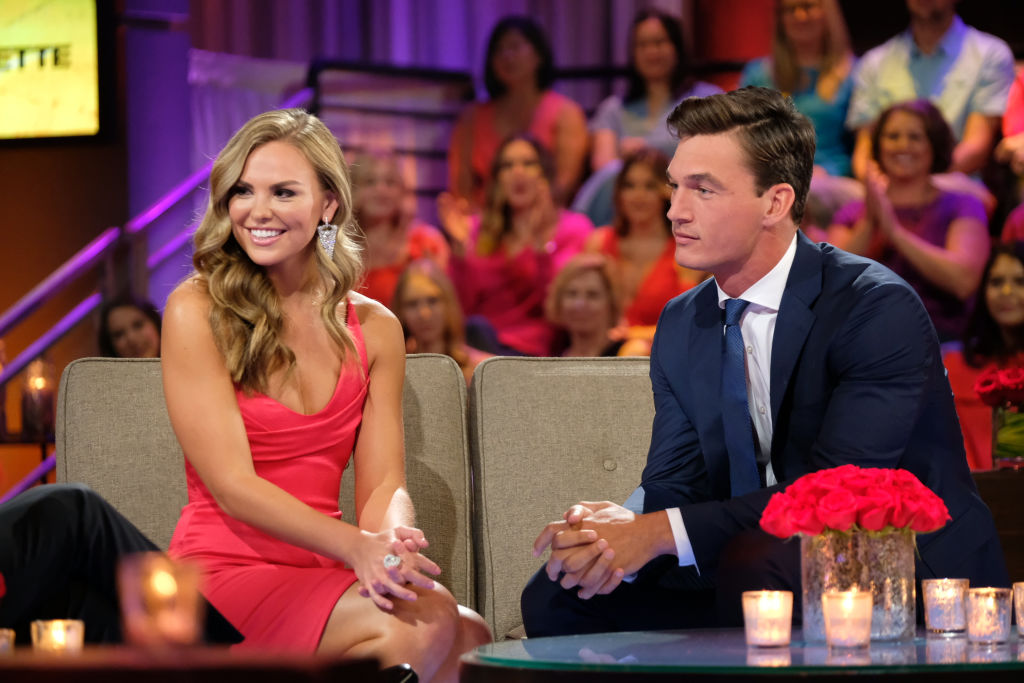 Photo of Hannah Brown and Tyler Cameron Shade Jed Wyatt While Watching 'The Bachelor: Listen to Your Heart' and We Can't Stop Thinking About It | Showbiz Cheat Sheet