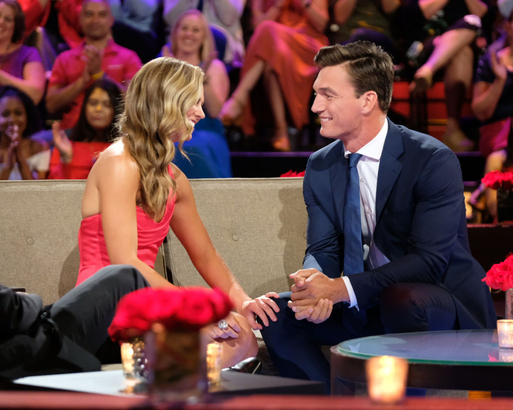 Hannah Brown and Tyler Cameron on 'The Bachelorette' finale
