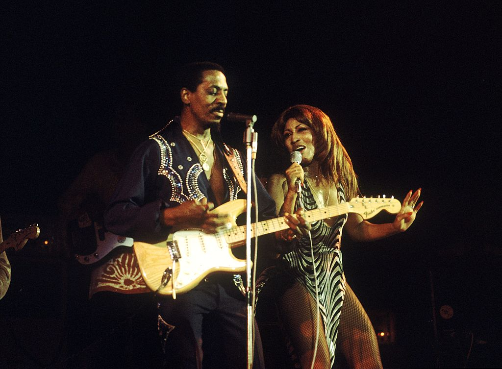 Ike and Tina Turner performing onstage