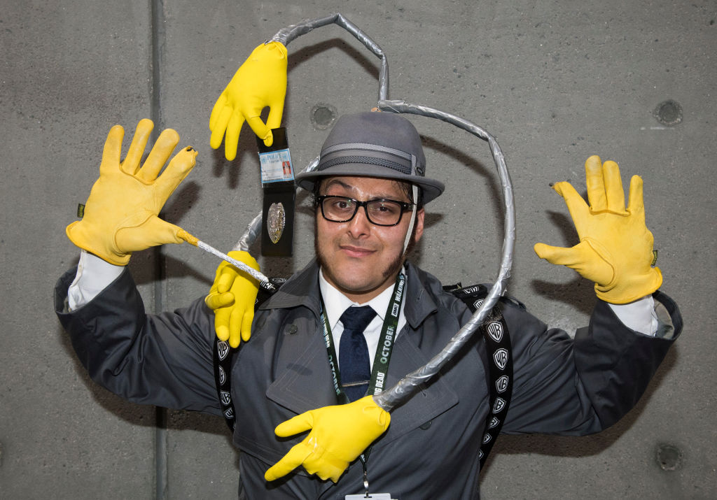 Salvador Solos as Inspector Gadget at San Diego Comic-Con 2018