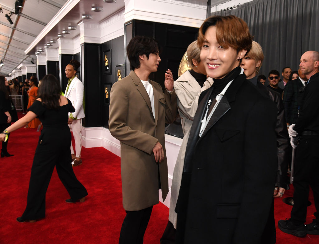 BTS attends the 62nd Annual GRAMMY Awards at STAPLES Center