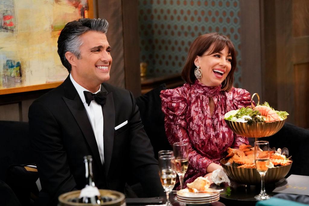 Jaime Camil and Natasha Leggero| Greg Gayne/CBS via Getty Images